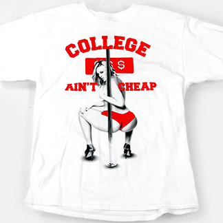 T i t s two in the shirt college ain 39 t cheap men 39 s for Cheap college t shirts online