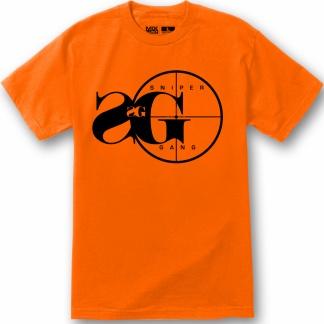 sniper gang logo mens tshirt